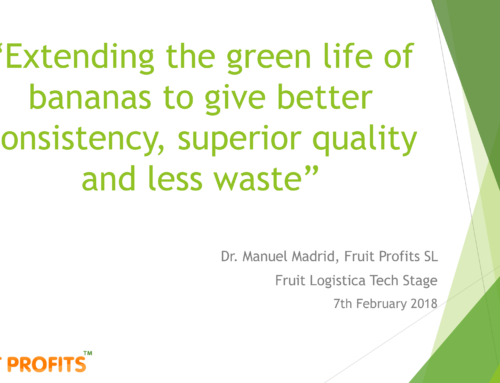 It's Fresh! Extending the green life of bananas presentation by Dr. Manuel Madrid